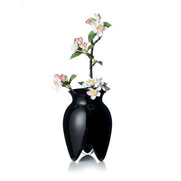 Rosendahl - wazon z czarnego szkła - wysokość: 18 cm