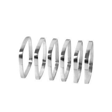 Blomus - Fino - 6 obrączek do serwetek - wymiary: 4,5 x 4,5 x 0,5 cm