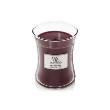 WoodWick - Black Plum Cognac - świeca zapachowa - śliwka nasączona koniakiem - czas palenia: do 100 godzin