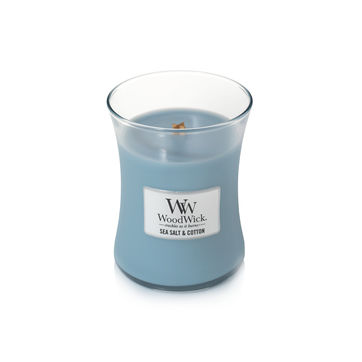 WoodWick - Sea Salt & Cotton - świeca zapachowa - oceaniczna bryza - czas palenia: do 100 godzin