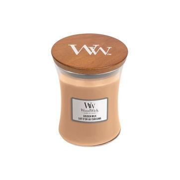 WoodWick - Golden Milk - świeca zapachowa - słodkie mleko - czas palenia: do 65 godzin