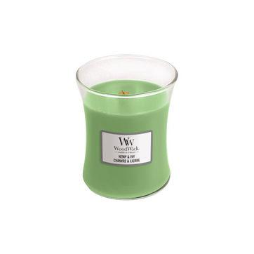 WoodWick - Hemp & Ivy - świeca zapachowa - nasiona konopii - czas palenia: do 100 godzin