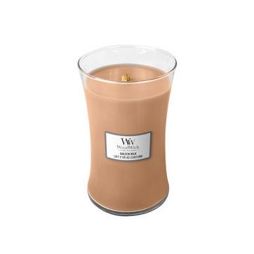 WoodWick - Golden Milk - świeca zapachowa - słodkie mleko - czas palenia: do 175 godzin