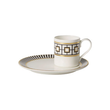 Villeroy & Boch - MetroChic - filiżanka do espresso ze spodkiem - pojemność: 0,08 l