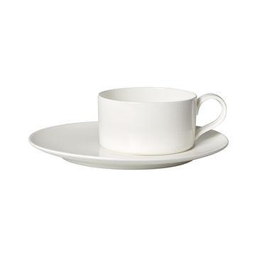 Villeroy & Boch - MetroChic blanc - filiżanka do herbaty ze spodkiem - pojemność: 0,23 l