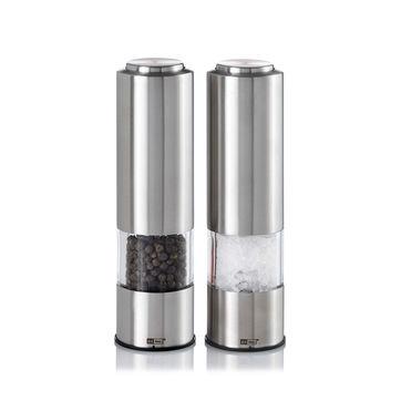 Adhoc - Pepmatik - zestaw elektrycznych młynków do soli i pieprzu - wysokość: 19 cm