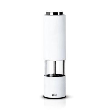 Adhoc - Tropica White - elektryczny młynek do pieprzu lub soli - wysokość: 21,5 cm