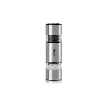 Adhoc - Duomill Mini - podwójny młynek do soli i pieprzu - wysokość: 11 cm