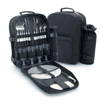 Sagaform - Picnic - plecak piknikowy z termiczną przegródką - z wyposażeniem na piknik dla 4 osób