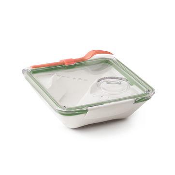Black Blum - Box Appetit - pojemnik na lunch z widelcem - wymiary: 19 x 19 x 5,5 cm