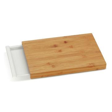 Kela - Klara - deska do krojenia z wysuwaną tacką - wymiary: 38 x 25,5 cm