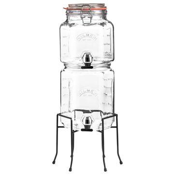 Kilner - zestaw dystrybutorów do napojów na stojaku - pojemność: 2,1 l + 3,1 l