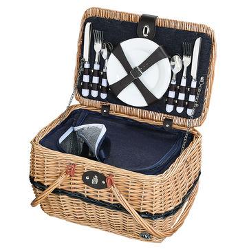 Cilio - Idro - kosz piknikowy z wyposażeniem dla 4 osób - wymiary: 40 x 28 x 25 cm