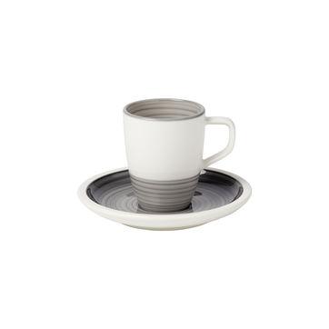 Villeroy & Boch - Manufacture gris - filiżanka do espresso ze spodkiem - pojemność: 0,1 l