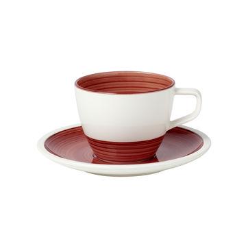 Villeroy & Boch - Manufacture rouge - filiżanka do kawy ze spodkiem - pojemność: 0,25 l