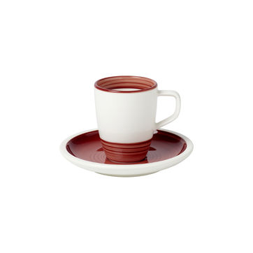 Villeroy & Boch - Manufacture rouge - filiżanka do espresso ze spodkiem - pojemność: 0,1 l