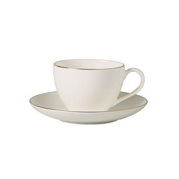 Villeroy & Boch - Anmut Gold - filiżanka do kawy ze spodkiem - pojemność: 0,2 l