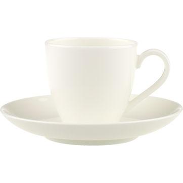 Villeroy & Boch - Anmut - filiżanka do espresso ze spodkiem - pojemność: 0,1 l
