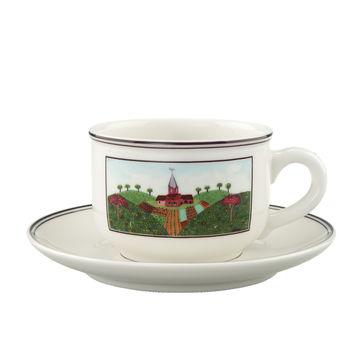 Villeroy & Boch - Design Naif - filiżanka do herbaty ze spodkiem - pojemność: 0,25 l