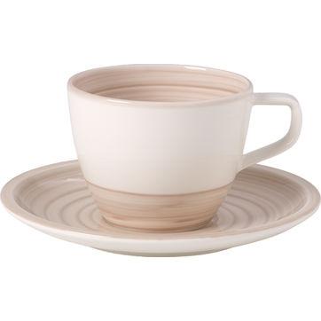 Villeroy & Boch - Artesano Nature Beige - filiżanka do kawy ze spodkiem - pojemność: 0,25 l