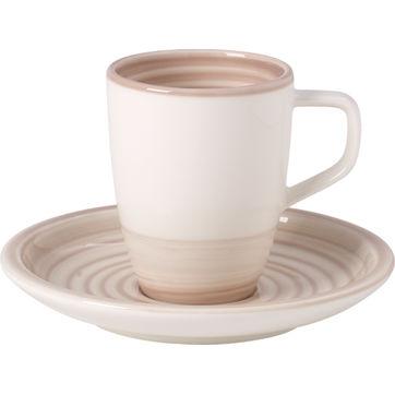Villeroy & Boch - Artesano Nature Beige - filiżanka do espresso ze spodkiem - pojemność: 0,1 l