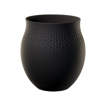 Villeroy & Boch - Manufacture Collier noir - wazon Perle - wysokość: 17,5 cm