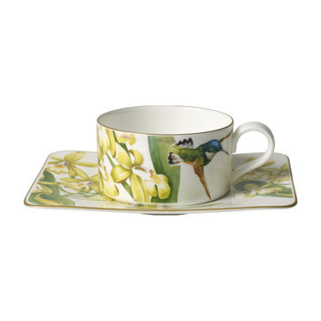Villeroy & Boch - Amazonia - filiżanka do herbaty ze spodkiem - pojemność: 0,23 l