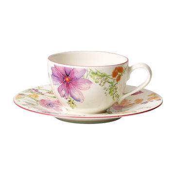 Villeroy & Boch - Mariefleur Basic - filiżanka do kawy ze spodkiem - pojemność: 0,25 l