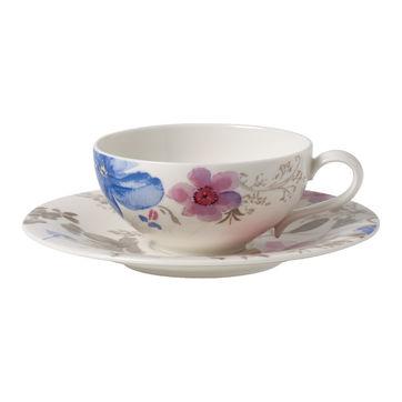 Villeroy & Boch - Mariefleur Gris Basic - filiżanka do herbaty ze spodkiem - pojemność: 0,24 l