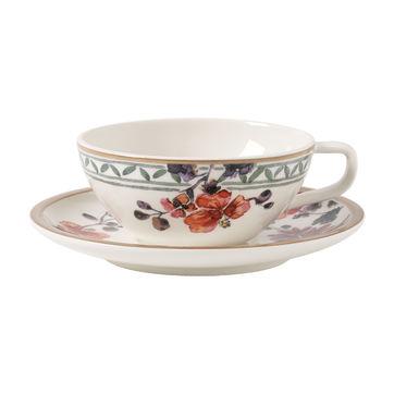 Villeroy & Boch - Artesano Provencal Verdure - filiżanka do herbaty ze spodkiem - pojemność: 0,24 l