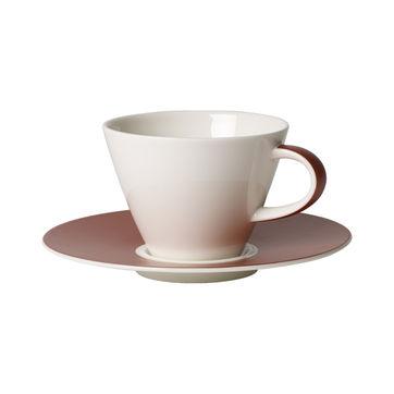 Villeroy & Boch - Caffé Club Uni Oak - filiżanka do kawy ze spodkiem - pojemność: 0,22 l