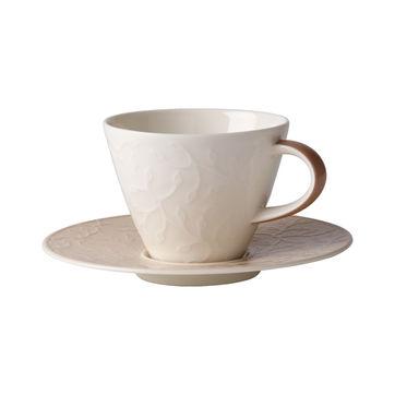 Villeroy & Boch - Caffé Club Floral Touch of Hazel - filiżanka do kawy ze spodkiem - pojemność: 0,22 l
