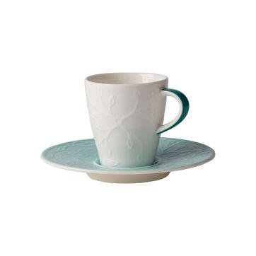 Villeroy & Boch - Caffé Club Floral Touch of Ivy - filiżanka do espresso ze spodkiem - pojemność: 0,1 l