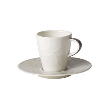 Villeroy & Boch - Caffé Club Floral Touch of Smoke - filiżanka do espresso ze spodkiem - pojemność: 0,1 l