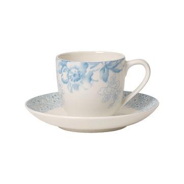 Villeroy & Boch - Floreana Blue - filiżanka do espresso ze spodkiem - pojemność: 0,1 l