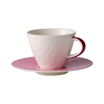 Villeroy & Boch - Caffé Club Floral Touch of Rose - filiżanka do kawy ze spodkiem - pojemność: 0,22 l