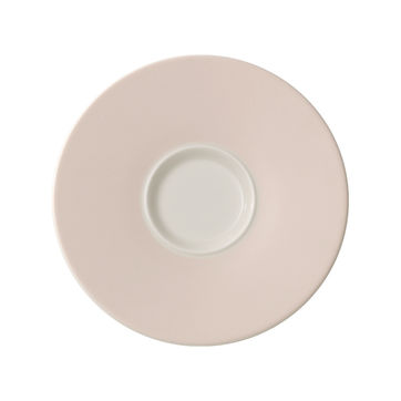 Villeroy & Boch - Caffé Club Uni Pearl - spodek pod filiżankę do białej kawy - średnica: 17 cm