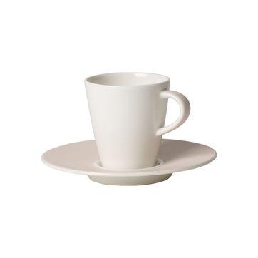 Villeroy & Boch - Caffé Club Uni Pearl - filiżanka do espresso ze spodkiem - pojemność: 0,1 l