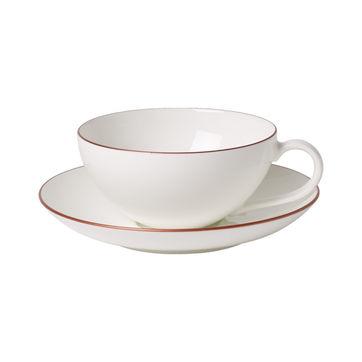 Villeroy & Boch - Anmut Rosewood - filiżanka do herbaty ze spodkiem - pojemność: 0,2 l
