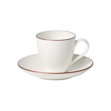 Villeroy & Boch - Anmut Rosewood - filiżanka do espresso ze spodkiem - pojemność: 0,1 l
