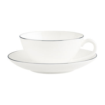 Villeroy & Boch - Anmut Platinum No.1 - filiżanka do herbaty ze spodkiem - pojemność: 0,2 l