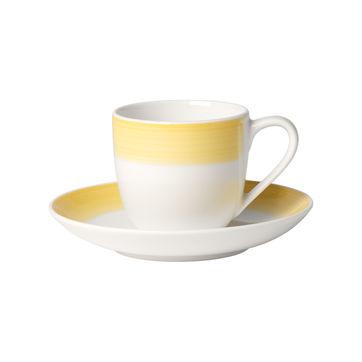 Villeroy & Boch - Colourful Life Lemon Pie - filiżanka do espresso ze spodkiem - pojemność: 0,1 l