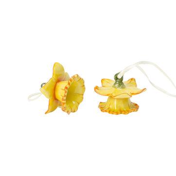 Villeroy & Boch - Mini Flower Bells - 2 zawieszki - żonkile - wysokość: 4 cm