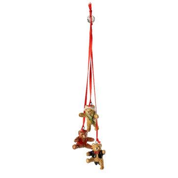 Villeroy & Boch - My Christmas Tree - potrójna zawieszka - pluszowe misie - długość: 26 cm