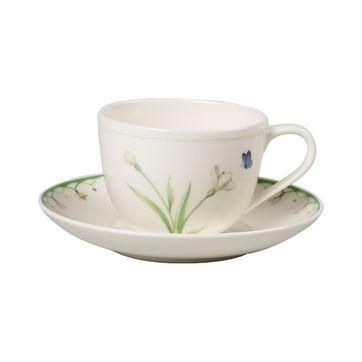 Villeroy & Boch - Colourful Spring - filiżanka do kawy ze spodkiem - pojemność: 0,23 l