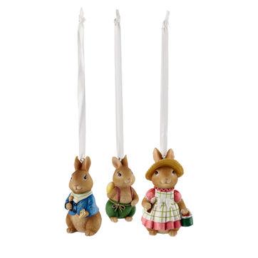 Villeroy & Boch - Bunny Tales - 3 zawieszki - wysokość: od 5 do 7 cm
