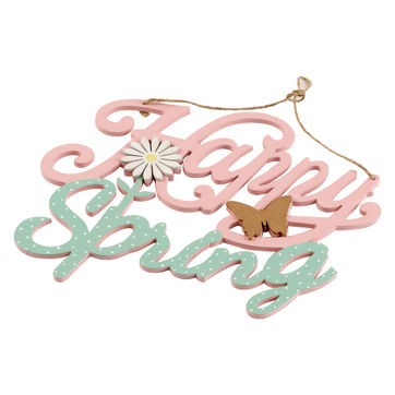 Villeroy & Boch - Colourful Spring - dekoracyjny napis - Happy Spring - wymiary: 26 x 24 cm