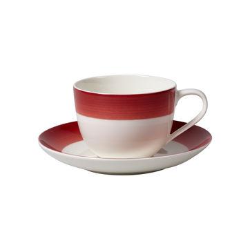 Villeroy & Boch - Colourful Life Deep Red - filiżanka do kawy ze spodkiem - pojemność: 0,23 l