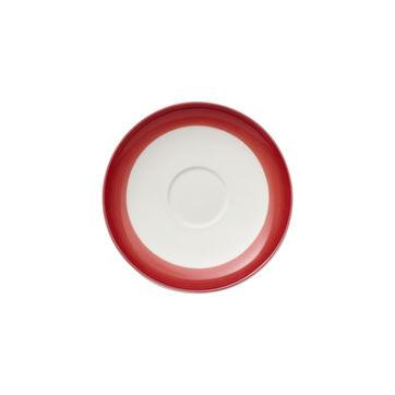 Villeroy & Boch - Colourful Life Deep Red - spodek do filiżanki do espresso - średnica: 12 cm