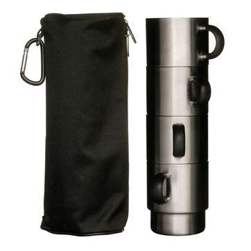 Sagaform - Adventure - 4 termiczne kubki w pokrowcu z karabińczykiem - pojemność: 0,2 l